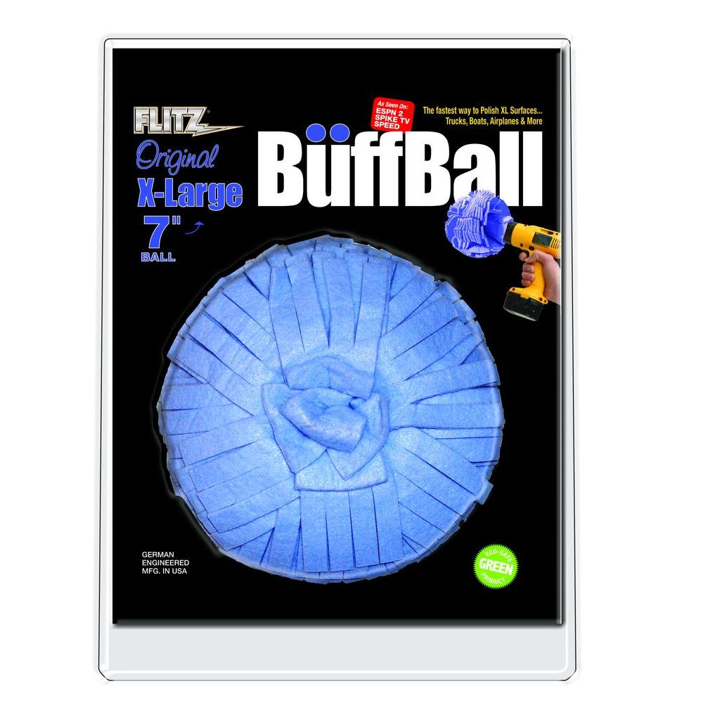 Flitz 7 in. X-Large Blue Original Buff-Ball in Clamshell