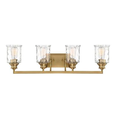 Drake 4-Light Brushed Gold Bath Bar Vanity Light