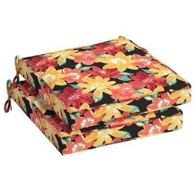 21 x 21 Ruby Abella Floral Outdoor Seat Cushion (2-Pack)
