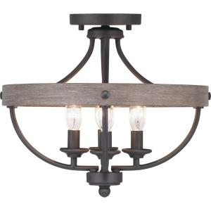 Gulliver Collection 4-Light Graphite Semi- Flush Mount