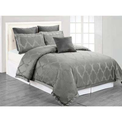 Matson Grey 6-Piece Queen Comforter Set