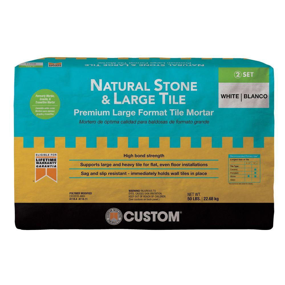 Custom Building Products Natural Stone and Large Tile 50 lb. White Premium Mortar