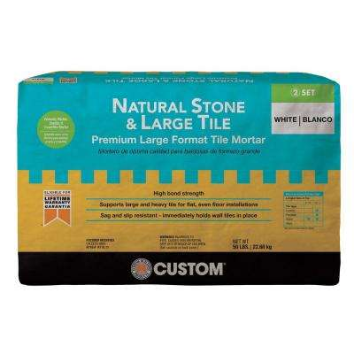 Natural Stone and Large Tile 50 lb. White Premium Mortar