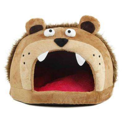 One-Size Light Brown Roar Bear Snuggle Plush Polar Fleece Bed