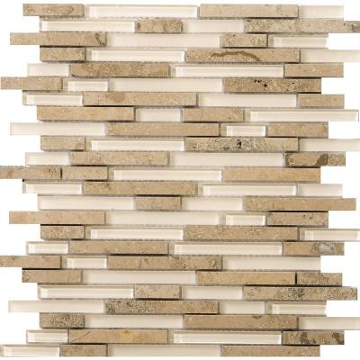 Lucente Lido Gloss/Matte Mix 12.05 in. x 12.05 in. x 8mm Glass Mesh-Mounted Mosaic Tile (1.07 sq. ft.)