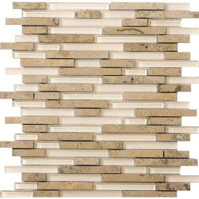 Lucente Lido Gloss/Matte Mix 12.05 in. x 12.05 in. x 8mm Glass Mesh-Mounted Mosaic Tile