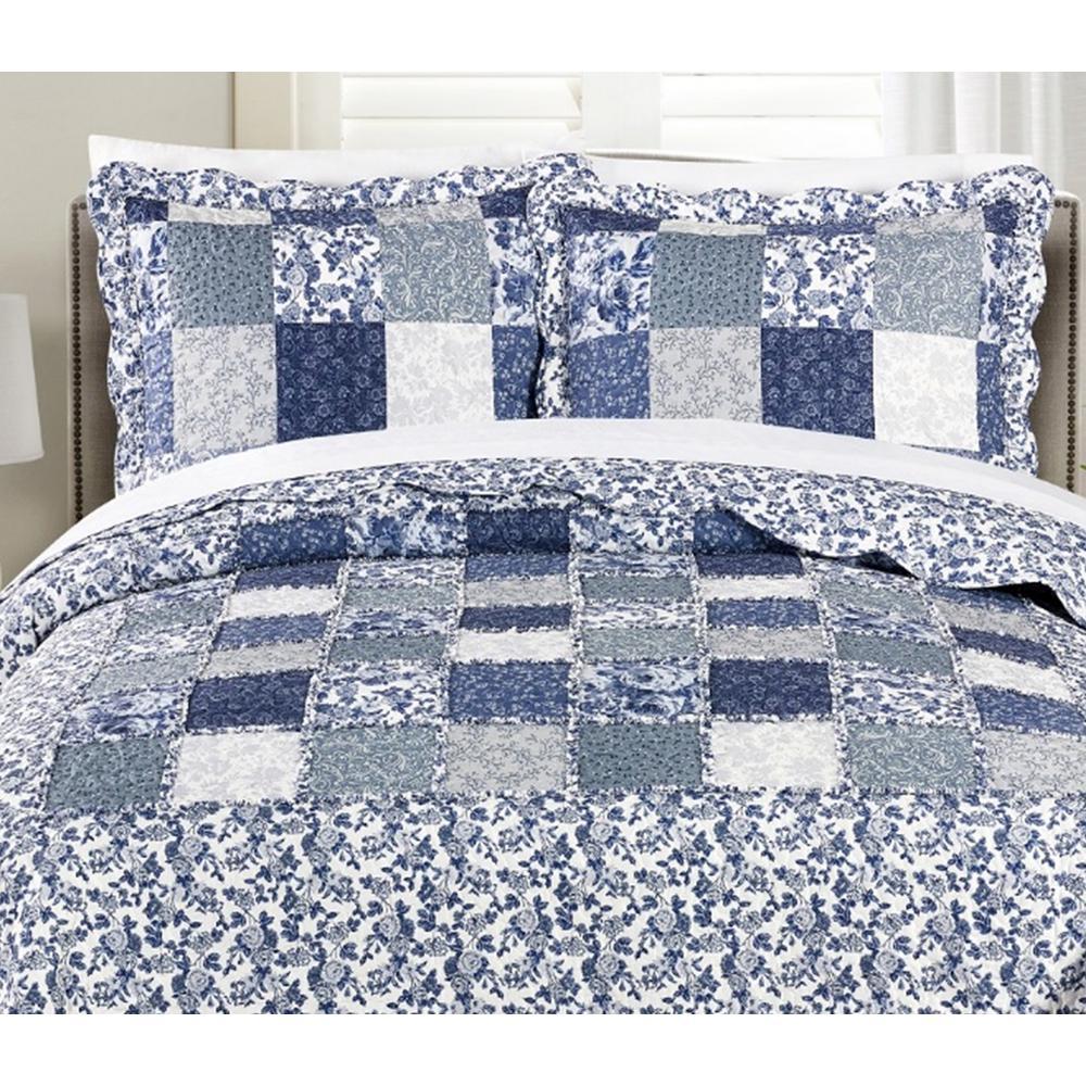 Morgan Home MHF Home Julia 3-piece King Reversible Floral Patchwork Quilt Set