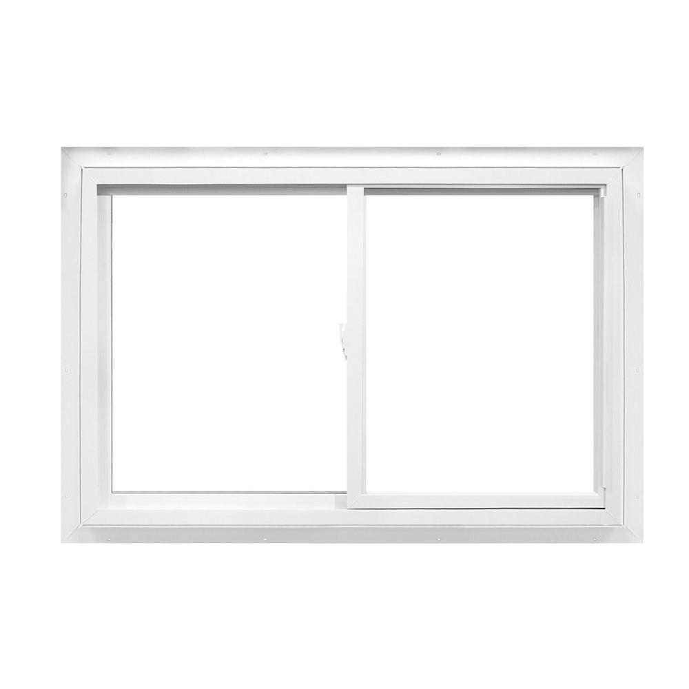 24 in. x 23 in. 2392 Series Reversible Sliding Vinyl Window