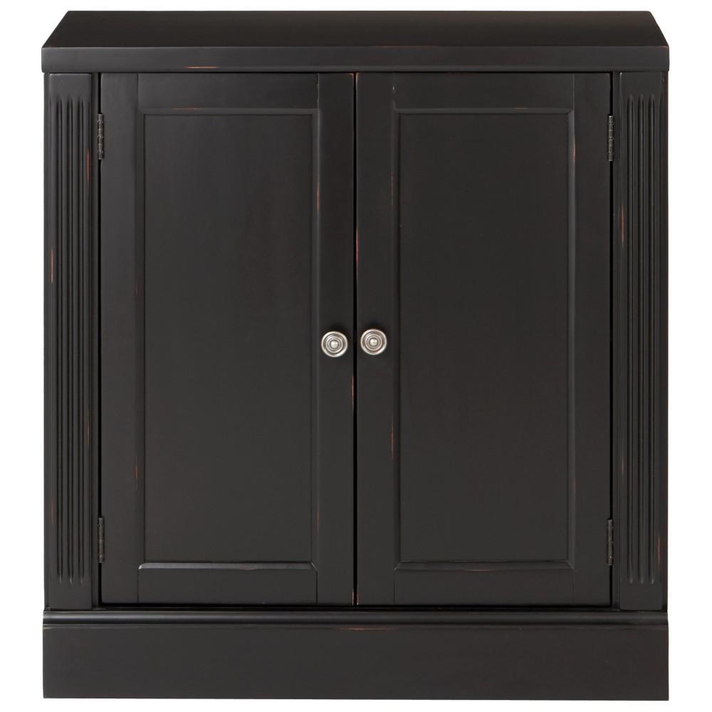 Home Decorators Collection Edinburgh 30 In H X 28 In W Modular Pier Cabinet In Black 6293 881