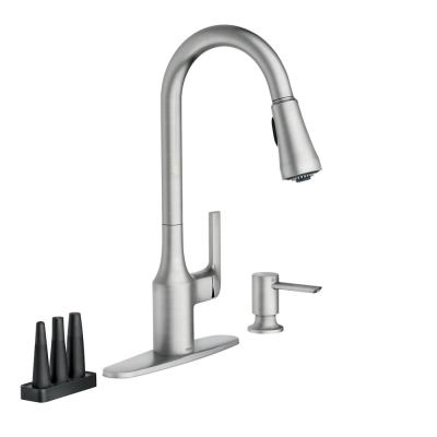 Milton Single-Handle Pull-Down Sprayer Kitchen Faucet with Reflex and Power Clean Attachments in Spot Resist Stainless