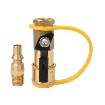 1/4 in. RV Propane Quick Connect Adapter for Propane Hose, Propane or Natural Gas Shutoff Valve and Full Flow Plug