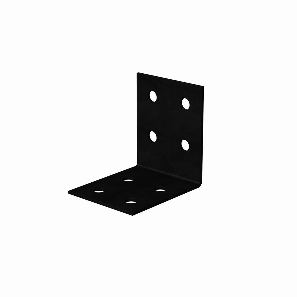 Simpson Strong-Tie HLPC 7-1/4 in. x 6 in. Black Powder-Coated Ornamental Heavy Angle