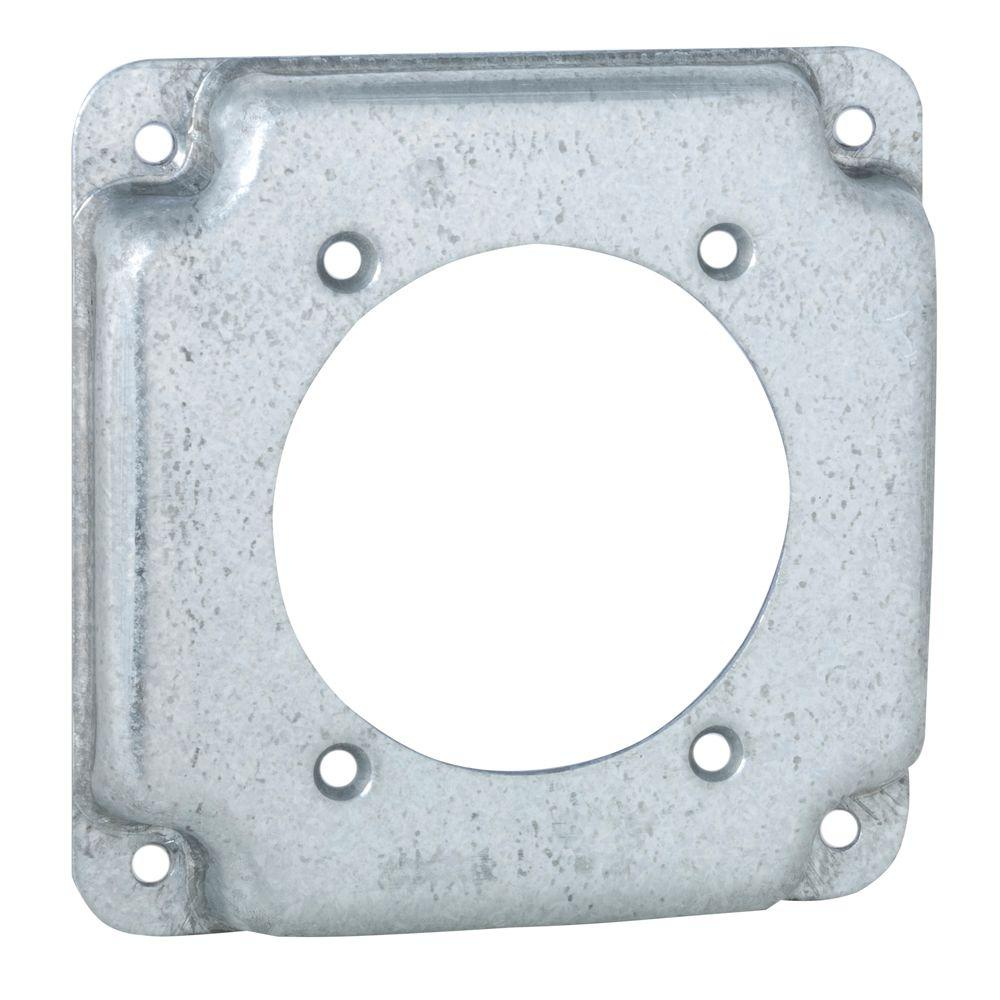 4 in. Square Exposed Work Cover for Single 30-50A Round Device