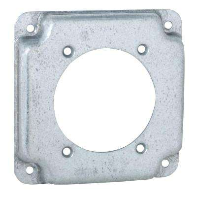 4 in. Square Exposed Work Cover for Single 30-50A Round Device (10-Pack)