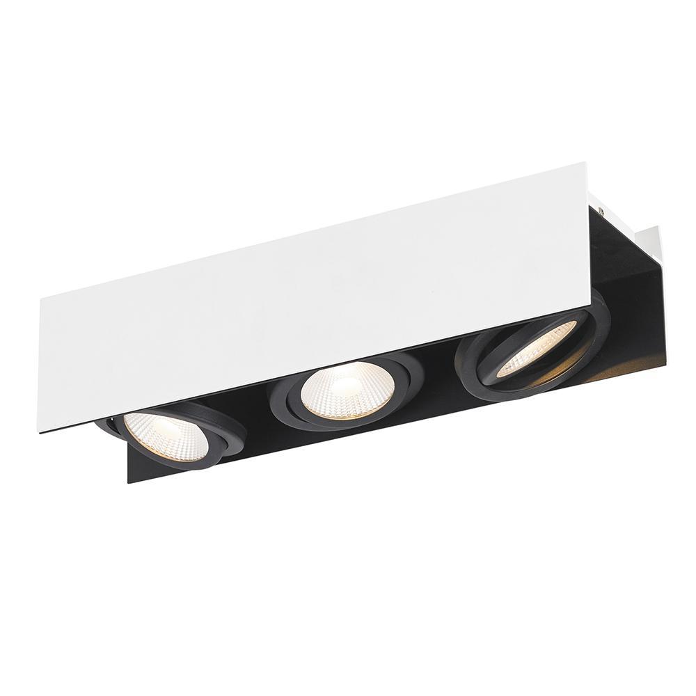 Vidago 1.5 ft. White and Black Integrated LED Track Lighting Kit