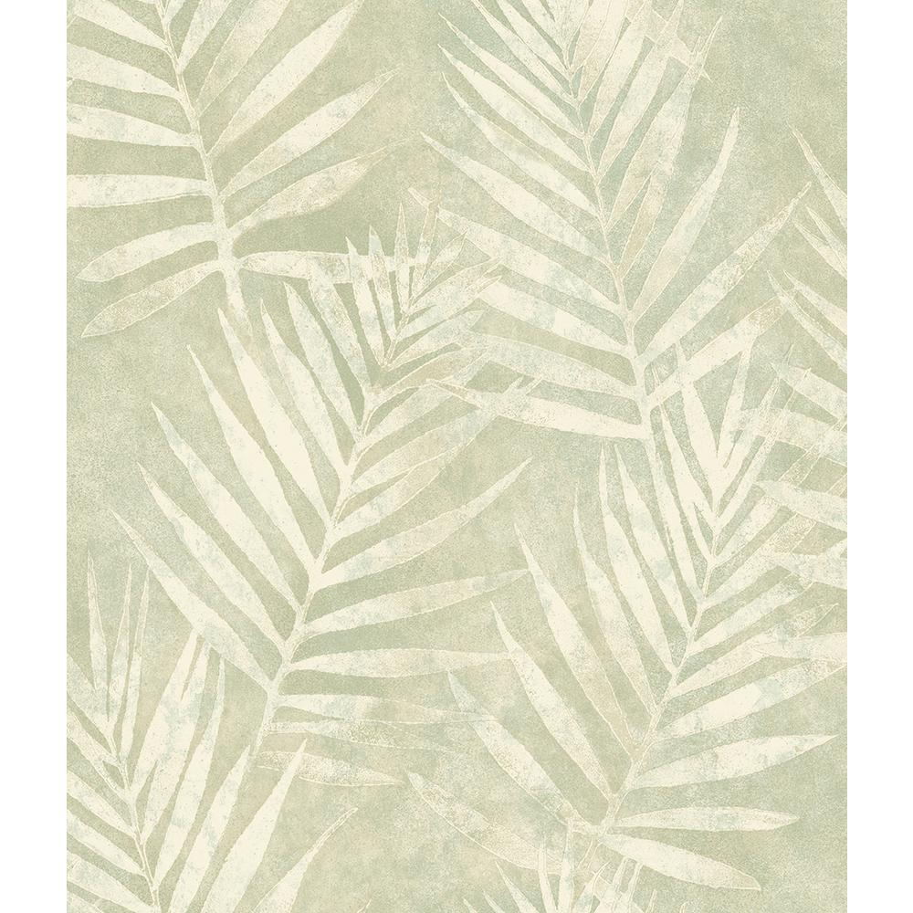 Chesapeake 8 In X 10 In Amador Olive Palm Wallpaper Sample 3117 675312sam The Home Depot