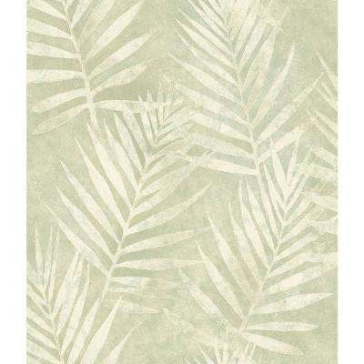 8 in. x 10 in. Amador Olive Palm Wallpaper Sample