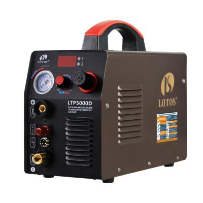 Lotos 50 Amp Non-Touch Pilot Arc Inverter Plasma Cutter for Metal, Dual Voltage 110V/220V, 1/2-inch Clean Cut