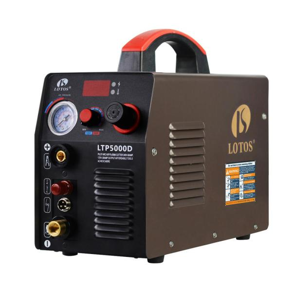50 Amp Non-Touch Pilot Arc Inverter Plasma Cutter for Metal, Dual Voltage 110V/220V, 1/2 in. Clean Cut