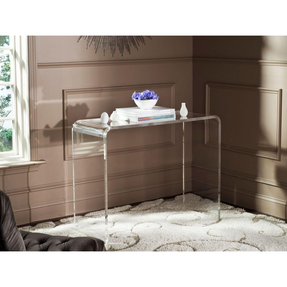 Safavieh Atka Clear Console TableFOX6016A The Home Depot