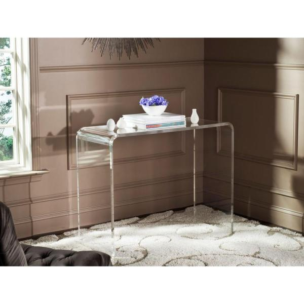 Atka 38 in. Clear Rectangle Glass Console Table