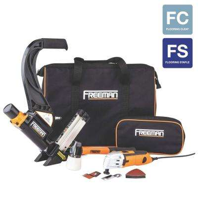 Pneumatic Hardwood Flooring Nailer and Multi Cutter Combo Kit
