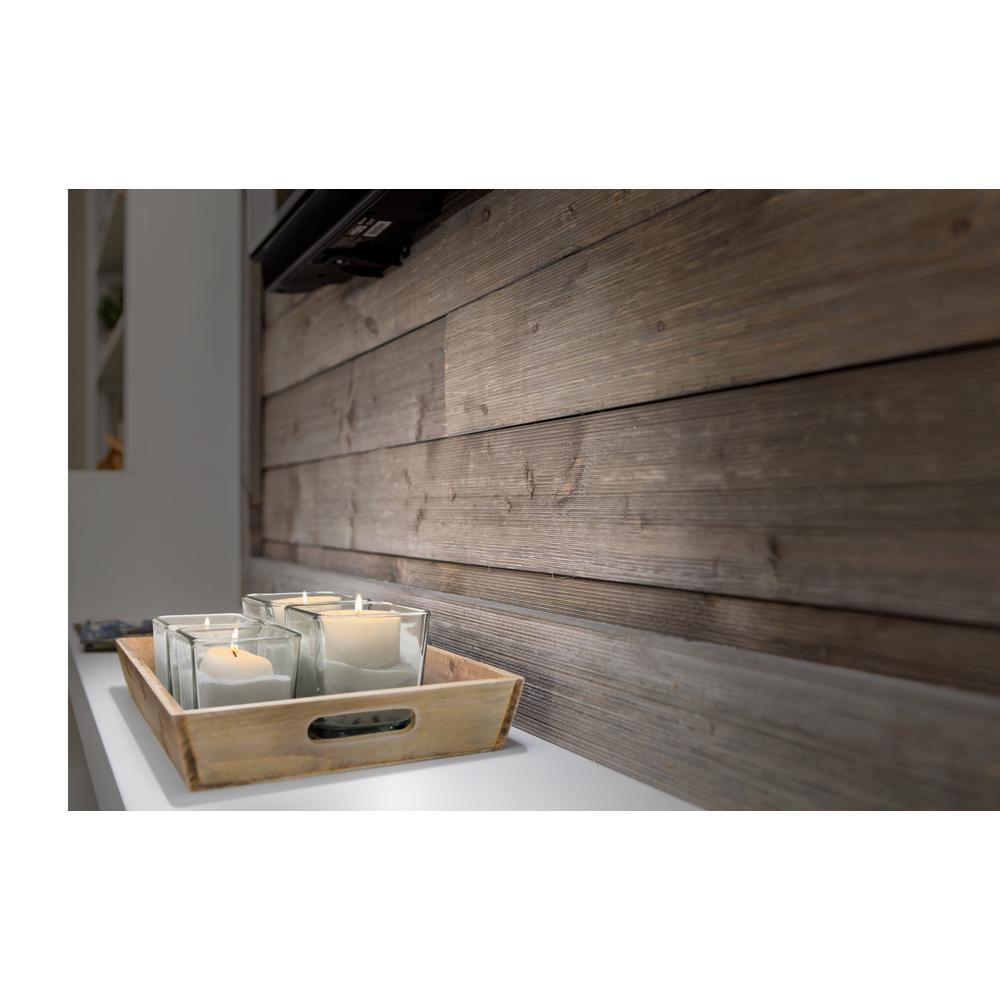 1 in. x 6 in. x 8 ft. Barn Wood Gray Shiplap Spruce/Pine/Fir Board (6-Pack)