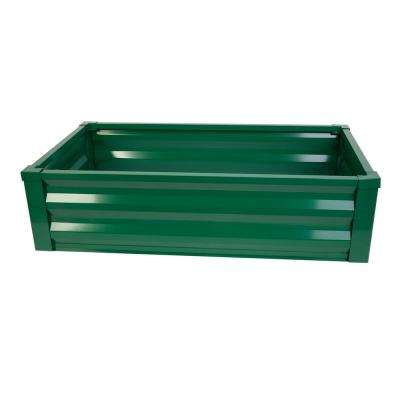 24 in. W x 48 in. L x 12 in. H Forest Green Pre-Galvanized Powder-Coated Steel Raised Garden Bed Planter