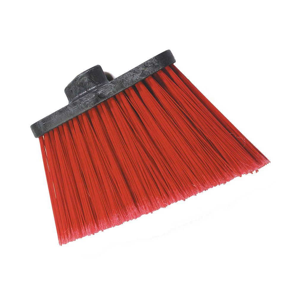 8 in. Flagged Angle Broom with 12 in. Flare Red Bristles