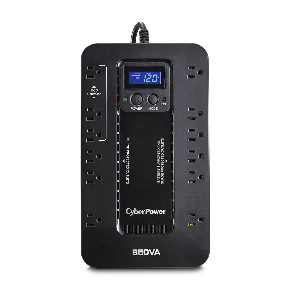 850VA 120-Volt 12-Outlet UPS Battery Backup