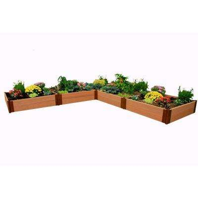 One Inch Series 12 ft. x 12 ft. x 11 in. Composite L Shaped Raised Garden Bed Kit