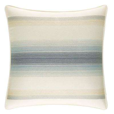 La Prisma Stripe Embellished 16 in. x 16 in. Throw Pillow