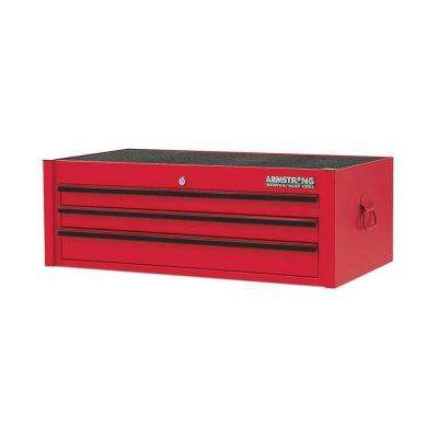 33 in. 3-Drawer Intermediate Tool Chest, Red