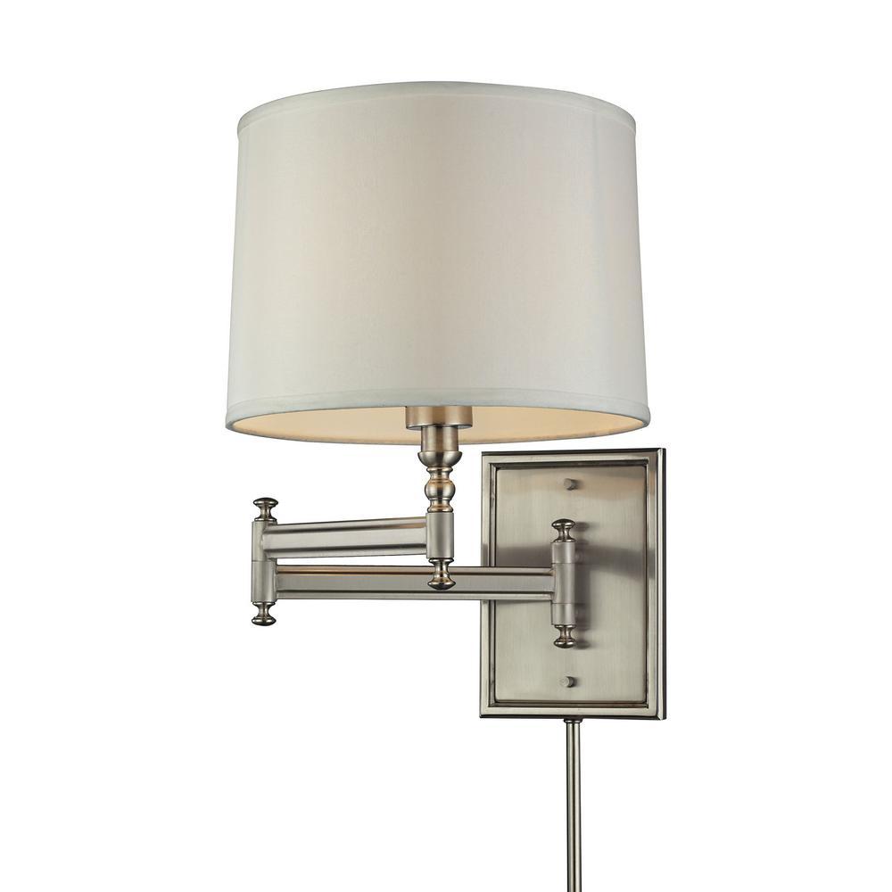 1-Light Brushed Nickel Swing Arm