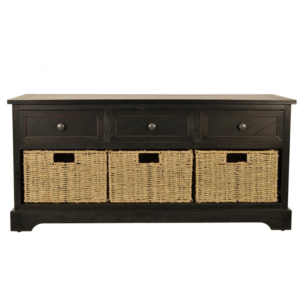 Montgomery Black Storage Bench