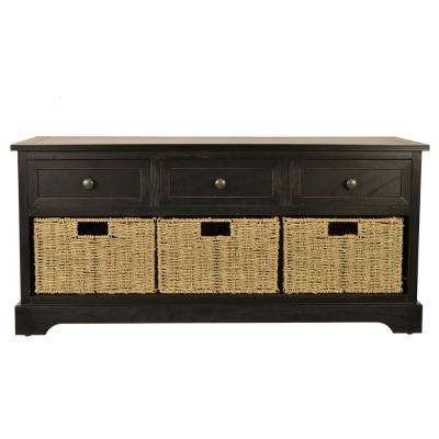 Montgomery Black Storage Bench