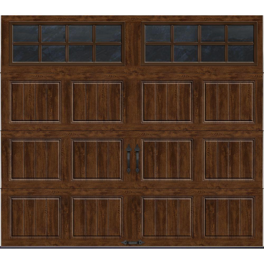 Clopay Gallery Collection 8 ft. x 7 ft. 18.4 R-Value Intellicore Insulated Ultra-Grain Walnut Garage Door with SQ24 Window