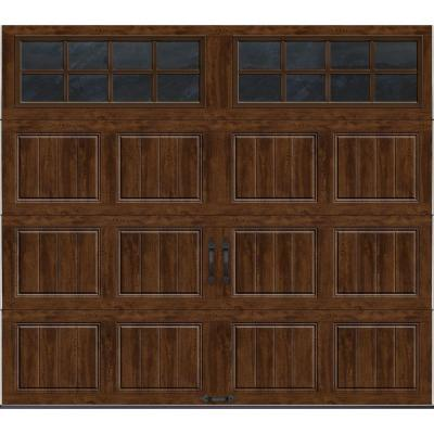 Gallery Collection 8 ft. x 7 ft. 18.4 R-Value Intellicore Insulated Ultra-Grain Walnut Garage Door with SQ24 Window