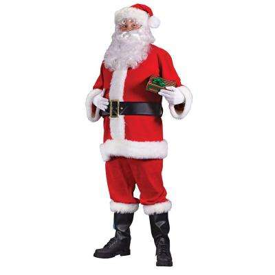 X-Large Plus Size Flannel Santa Suit for Adults