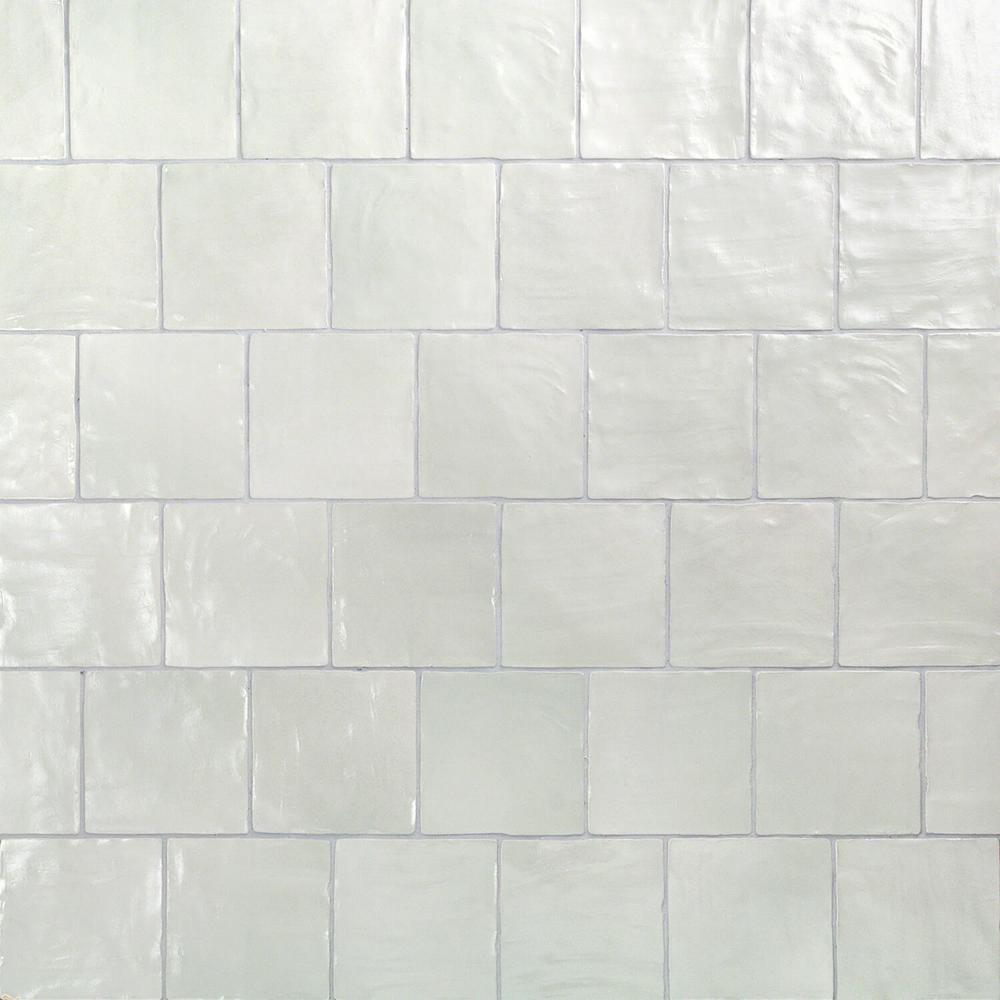 Amagansett Blue 4 in. x 4 in. 9mm Satin Ceramic Wall Tile (5.38 sq. ft. / box)