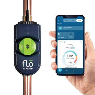 Flo by Moen 1 in. Water Leak Detector with Automatic Water Shut Off Valve