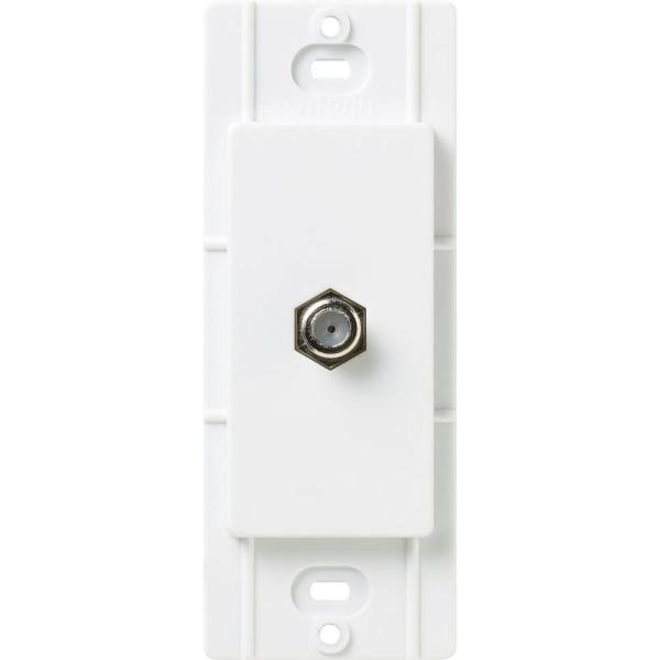Satin Colors Coaxial Cable Jack - Snow