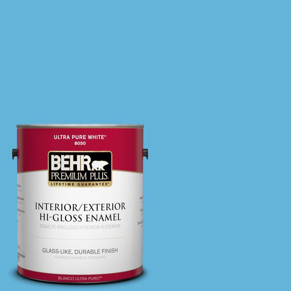 1-gal. #540B-5 Riviera Blue Hi-Gloss Enamel Interior/Exterior Paint