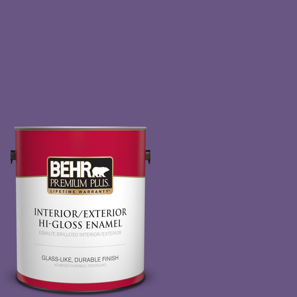 1 gal. #PPU16-02 Vigorous Violet Hi-Gloss Enamel Interior/Exterior Paint