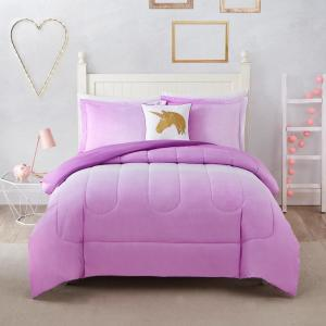 Jada Ombre 3-Piece Pink Twin Comforter Set by