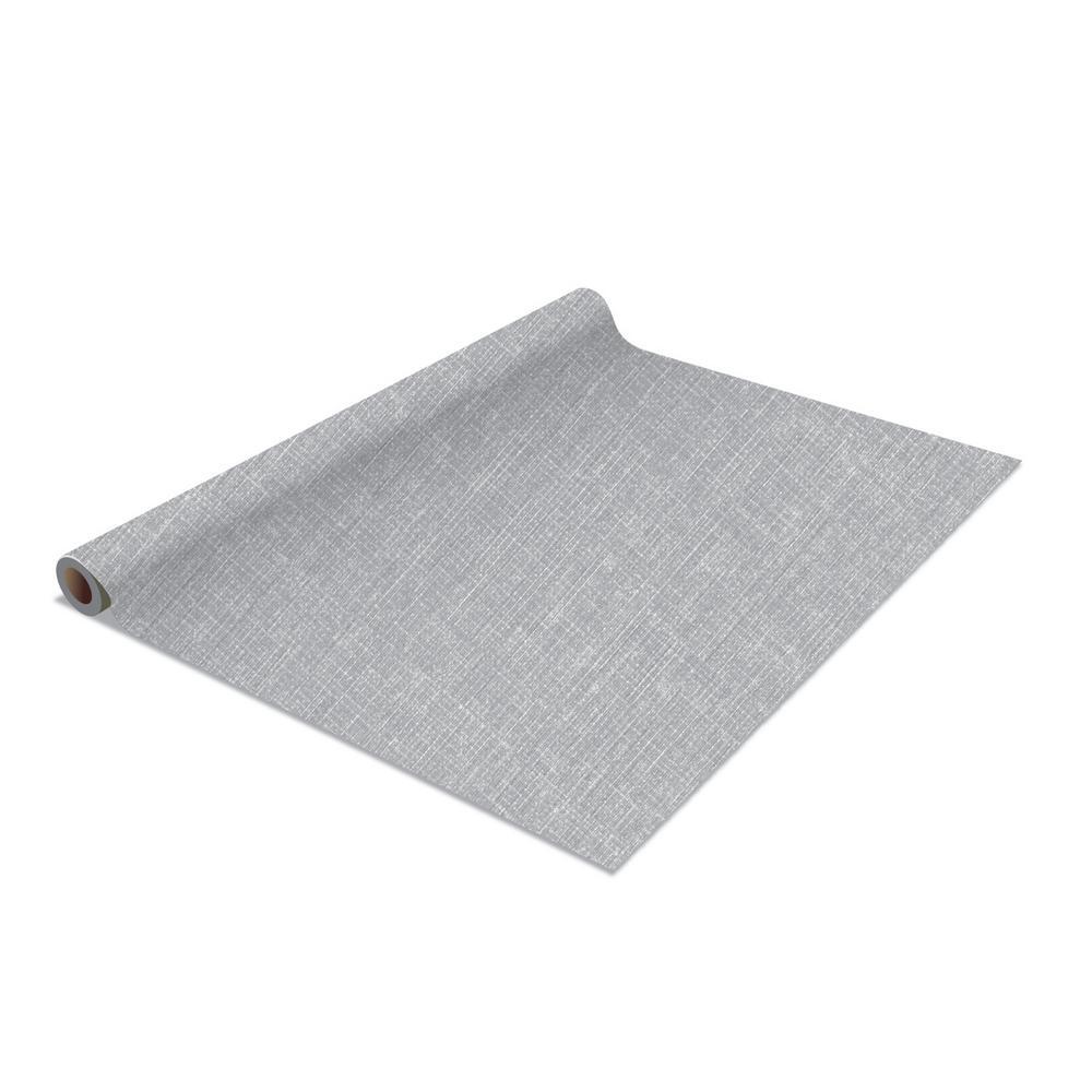 2-Pack Linen Self-Adhesive Shelf Liner in Grey