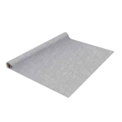 2 Pack Linen Self Adhesive Shelf Liner In Grey