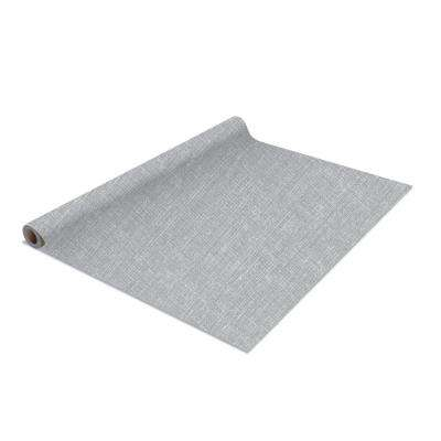 2-Pack Linen Self-Adhesive Shelf Liner in Grey