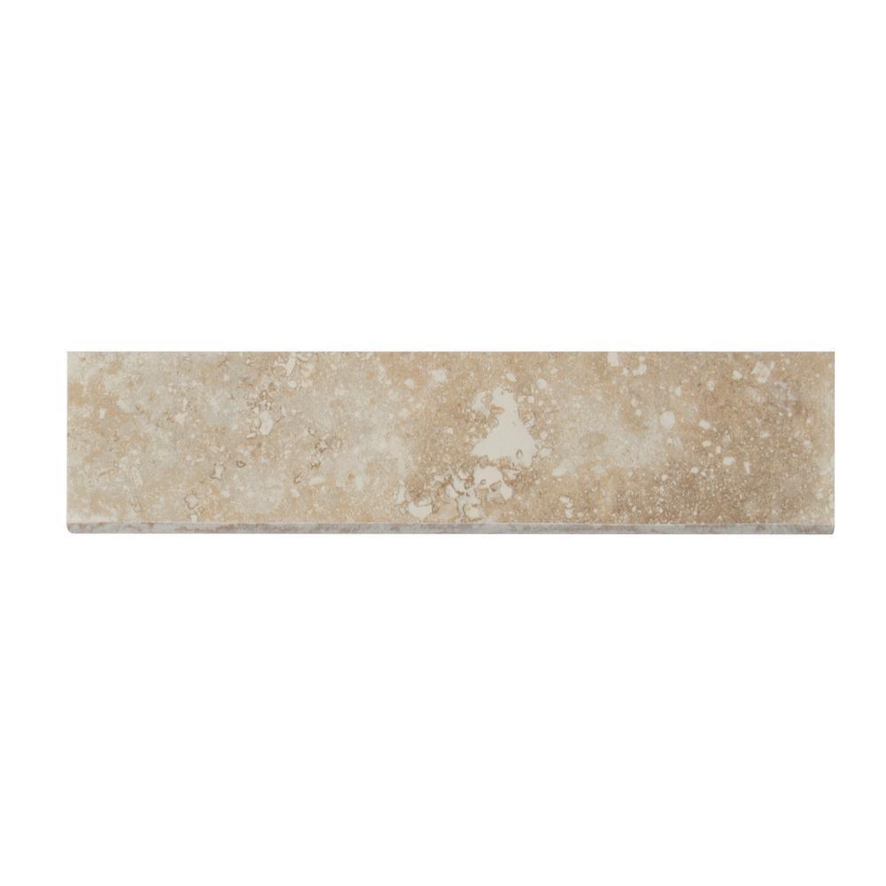 MSI Napa Beige Bullnose 3 in. x 13 in. Glazed Ceramic Wall Tile (10.83 lin. ft. / case)