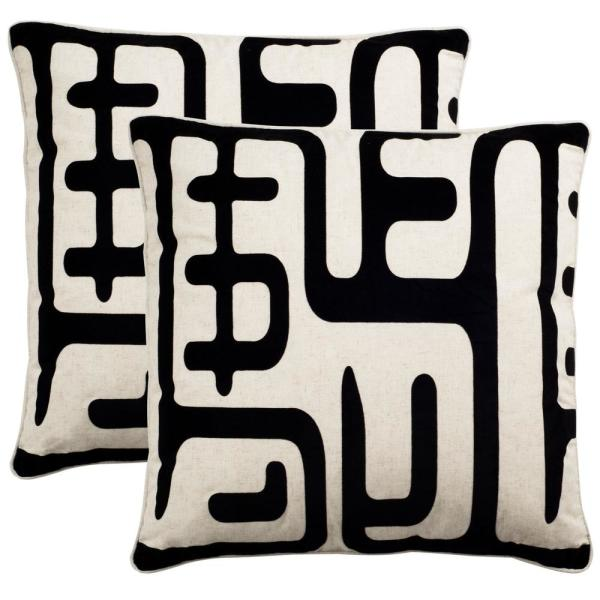 Safavieh Maize 24 In X 24 In Standard Pillow Set Of 2 Pil162a 2424 Set2 The Home Depot